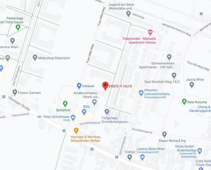 Karte der ERSTE IT HILFE